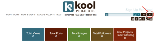 Kool Project Dashboard - Logging out of KoolProjects