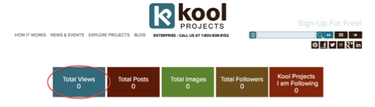 KoolProjects Dashboard - How many Visitors have checked out your KoolProject